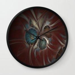 Flowers in Silk Wall Clock