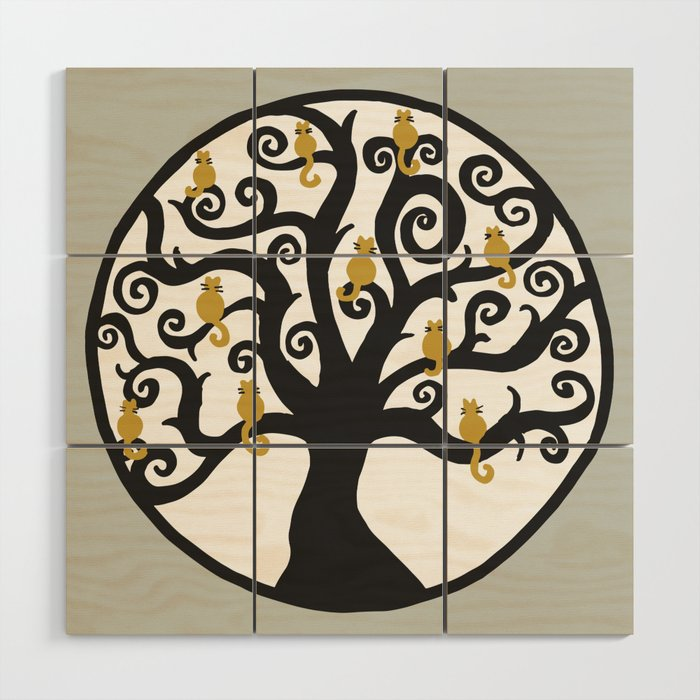 Cat Tree Of Life Wood Wall Art By Julieerindesigns