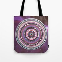 battlestar galactica Tote Bags featuring Galactica by Laurie McCall