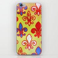 fleur de lis iPhone & iPod Skins featuring Fleur de lis #4 by Camille