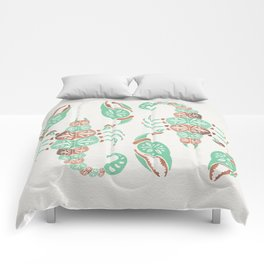 Scorpion – Mint & Rose Gold Comforters