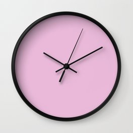 PARTY PINK pastel solid color Wall Clock