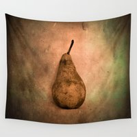 once upon a  time Wall Tapestries featuring Once Upon a pear by Victoria Herrera
