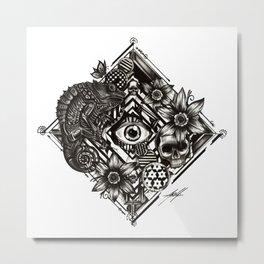 Square Eye Metal Print