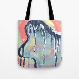 Dry Wave - Abstract Painting - Paint Drip  Tote Bag