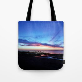 Sunset on the Mighty Saint-Lawrence Tote Bag