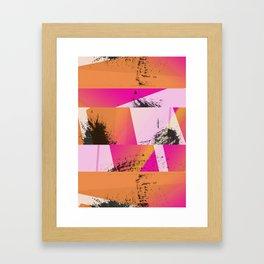 Summer Sunset Abstract Digital Collage Framed Art Print