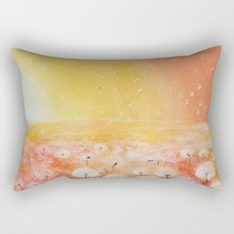 Sunrise and Dandelions, Watercolor Rectangular Pillow