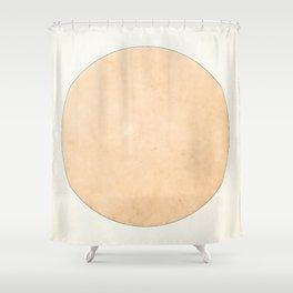 Imperial Beige - Moon Minimalism Shower Curtain