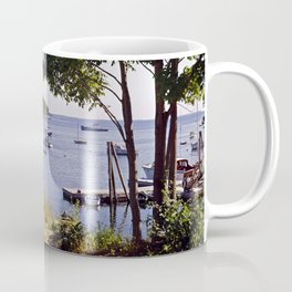 Marion Village in Rockport - Camden, Maine in the early 1960's, Retro Harbor Coffee Mug