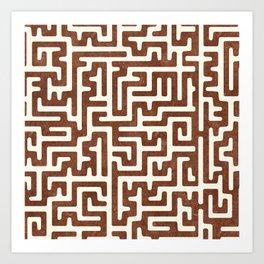 maze in brandywine Art Print