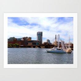 Boston Harbor, Boston, MA Art Print