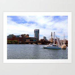 Boston Harbor, Boston, MA Art Print