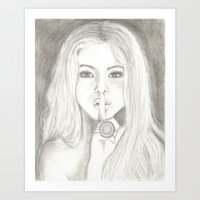 pretty little liars Art Prints featuring Pretty Little Liars Alison  by shelbmcintyre