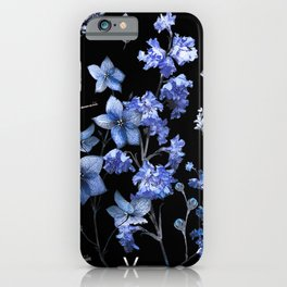 Dark Blue and Red Beetles iPhone Case