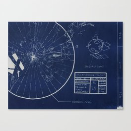Blueshift B28 Canvas Print