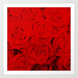 Some people grumble- Floral Red Rose Roses Flowers Garden Art Print