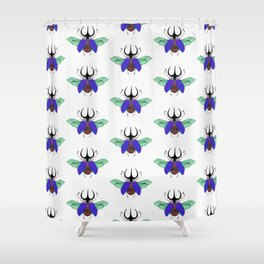 Beetle #5 Color Shower Curtain