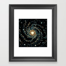 Pinwheel Galaxy M101 (8bit) Framed Art Print