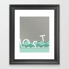 Lost- Framed Art Print