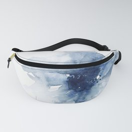 Blue Watercolor Poppies #2 Fanny Pack