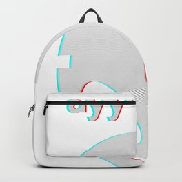 Vaporwave Ayy Lmao Meme Glitch art design Style Alien face graphic Backpack