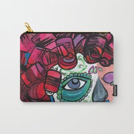 urban nomad rose skull Carry-All Pouch