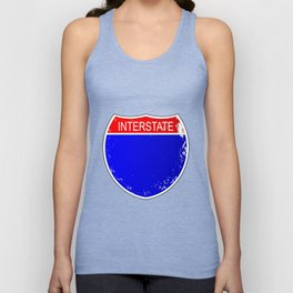Interstate Sign Isolated Unisex Tank Top
