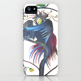 Gamaun Halloween Prophetic Raven Vector iPhone Case