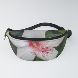 White Hibiscus Fanny Pack