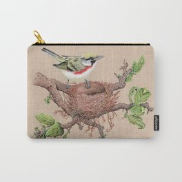 Chestnut Sided Warbler in Nest Carry-All Pouch