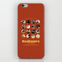 wes anderson iPhone & iPod Skins featuring Wes Anderson / Rushmore - The Many Faces of Max Fischer by Isabel