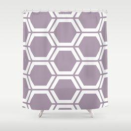 Heliotrope gray - violet - Geometric Polygon Pattern Shower Curtain