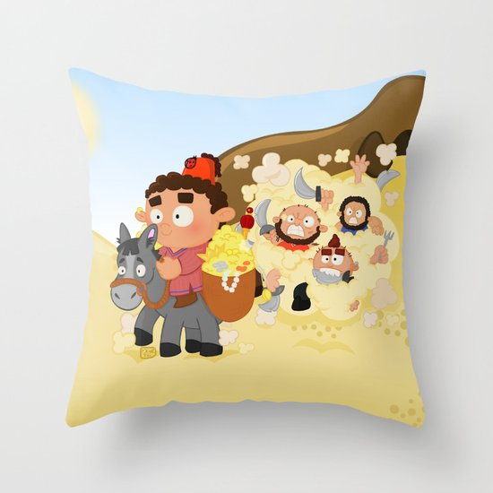 Ali Baba and the 40 thieves (Arabian nights) Throw Pillow