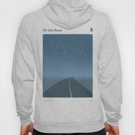 "Jack Kerouac ""On the Road"" - Minimalist literary art design, bookish gift Hoody"