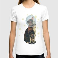 space cat T-shirts featuring Space Cat. by Dani Does Art
