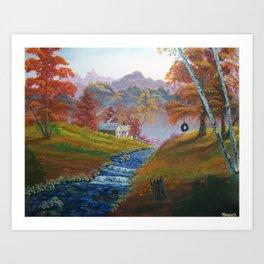 'Autumn Mist' Art Print