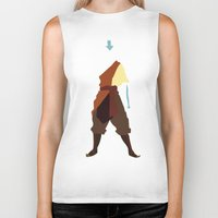 airbender Biker Tanks featuring Aang by JHTY