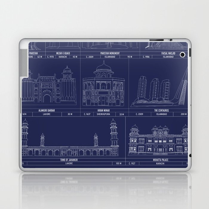 The Architecture of Pakistan Laptop & iPad Skin