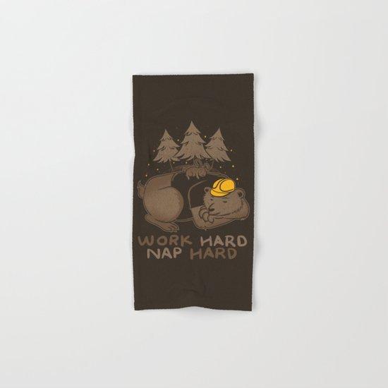 Work Hard Nap Hard Hand & Bath Towel