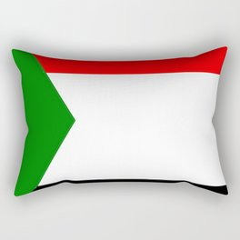 flag of sudan 2 -sudan,السودان ,sudanese,nubia,khartoum,omdurman Rectangular Pillow