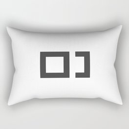 Pixel & Bracket Rectangular Pillow
