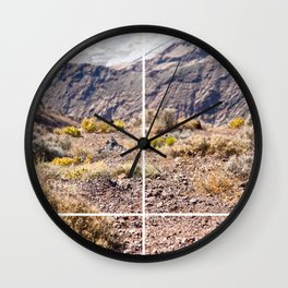 Death Valley view 02 Wall Clock