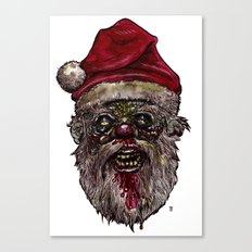 Heads of the Living Dead  Zombies: Santa Zombie Canvas Print