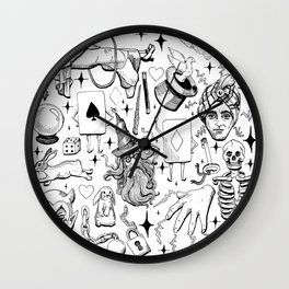 Antique Magic Starter Pack Black and White Wall Clock