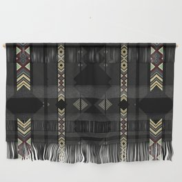 Southwestern Black Diamond Stripe Patterns Wall Hanging