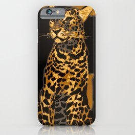 Leopard, Panther, German Zoo, Vintage Poster iPhone Case