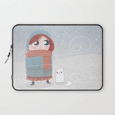 Winter Girl Laptop Sleeve