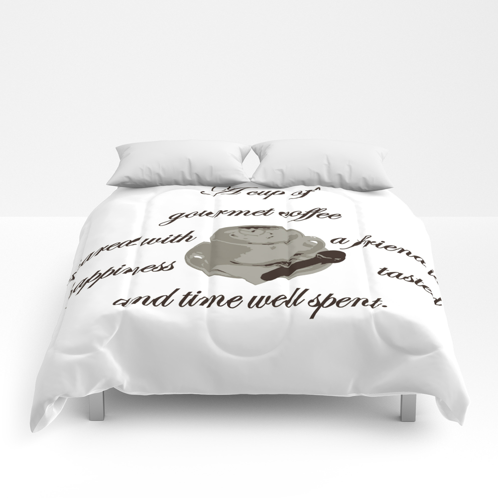 A Cup Of Gourmet Coffee Shared With A Friend Comforter by Taiche CMF7824447
