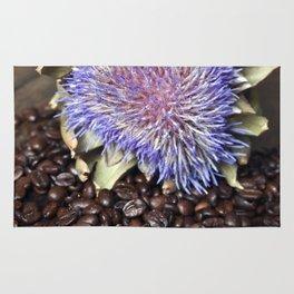Fresh Coffee Beans & Blue Artichoke Rug